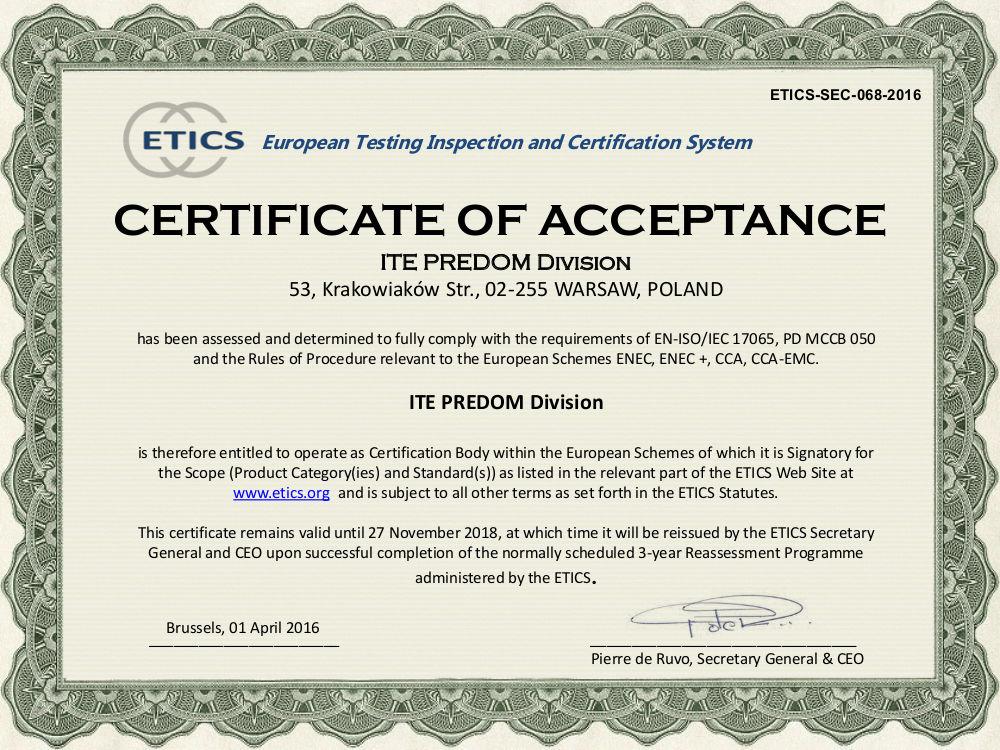 ETICS CB ITE PREDOM 2016